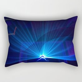 Blue laser Rectangular Pillow