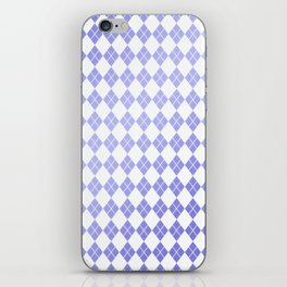 Modern geometric ultraviolet white diamonds patterns iPhone Skin