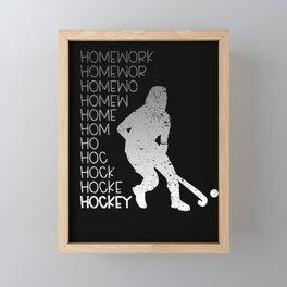 Field Hockey Lover Player Gift Framed Mini Art Print