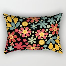 Retro.  Floral motifs Rectangular Pillow