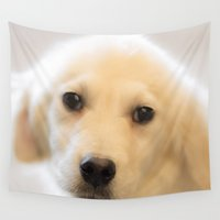 puppy Wall Tapestries featuring Puppy Love by Elliott's Location Photography