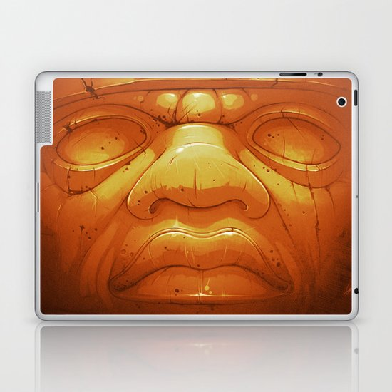 Olmeca II. (Gold) Laptop & iPad Skin