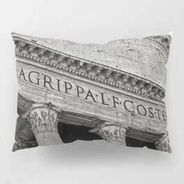 The Pantheon black and white Pillow Sham