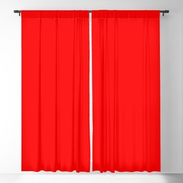 ff0000 Bright Red Blackout Curtain