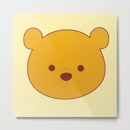 Yellow Bear Metal Print