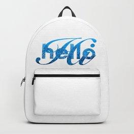 Hello Hi Blue Shimmer Greeting Backpack