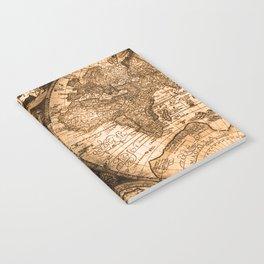 World Map Antique Vintage Maps Notebook