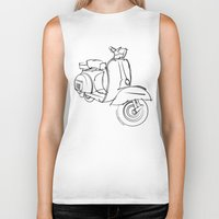 vespa Biker Tanks featuring Vespa by tuditees