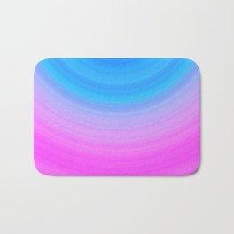 Pink & Blue Semicircles Bath Mat