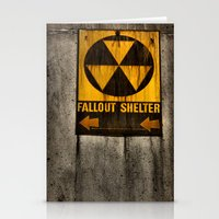 fallout Stationery Cards featuring Fallout Shelter by Julie Maxwell