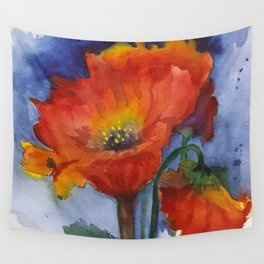 Flowers  Emerged Wall Tapestry