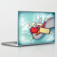 spaceship Laptop & iPad Skins featuring Spaceship by Mowis