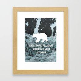 Falls Apart Framed Art Print