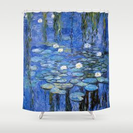 waterlilies a la Monet Shower Curtain