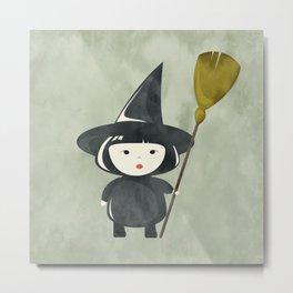 Halloween Witch Metal Print