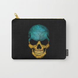 Dark Skull with Flag of Ukraine Carry-All Pouch