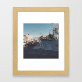 Split Level Framed Art Print