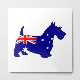 Australian Flag - Scottish Terrier Metal Print
