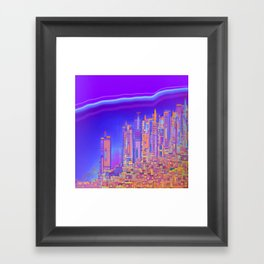 Saturnian Ultraviolet Wave Framed Art Print