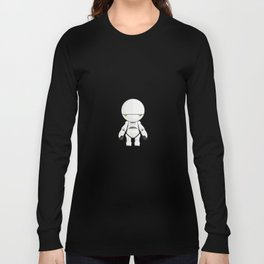 Marvin The Paranoid Android Minimal Sticker Long Sleeve T-shirt