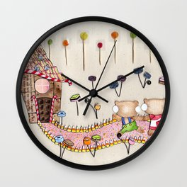 Hansel & Gretel - A House Made of Bread and Cake Wall Clock