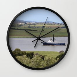 Tug Motoring Down the Tamar* Wall Clock