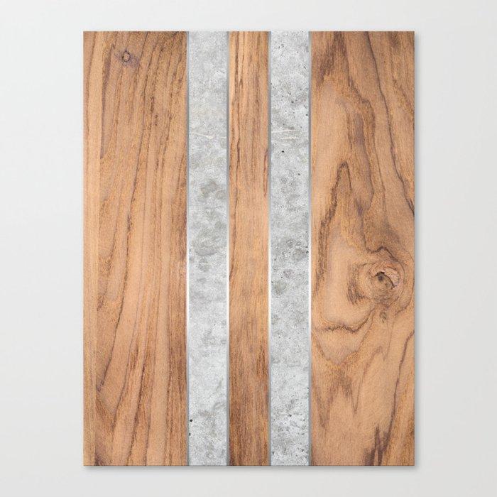 Striped Wood Grain Design - Concrete #347 Leinwanddruck