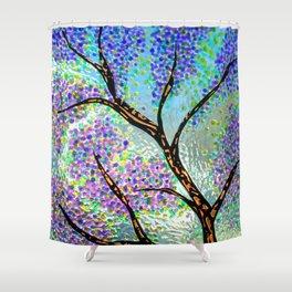 Lavender Branch Shower Curtain