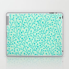 Berry Branches – Mint & Turquoise Palette Laptop & iPad Skin