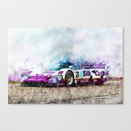 Jaguar XJR 12, Silk Cut Canvas Print