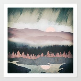 Forest Lake Evening Art Print