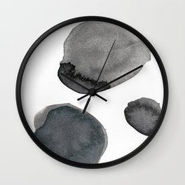 Standing Stones Blue Grey Abstract Art Wall Clock