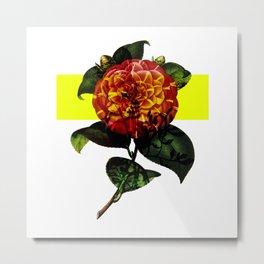 Vintage Bloom /Neon Block Metal Print