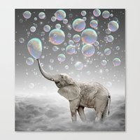 dreams Canvas Prints featuring The Simple Things Are the Most Extraordinary (Elephant-Size Dreams) by soaring anchor designs