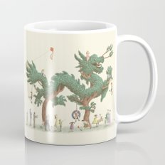 The Night Gardener - Dragon Topiary  Coffee Mug