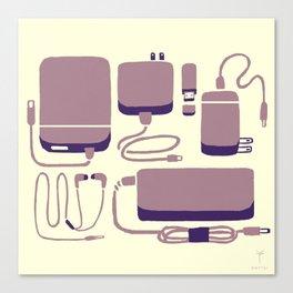 Digital Emergency Kit (Lavender) Canvas Print