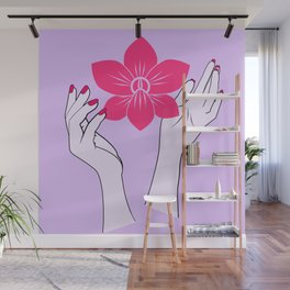 Holy orchid Wall Mural