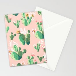 Vintage Cactus Pattern Stationery Cards