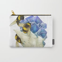 Bees on Fluorite Carry-All Pouch