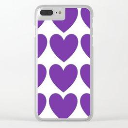 Purple Heart | Coeur Mauve Clear iPhone Case