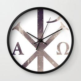 Chi Rho Wall Clock