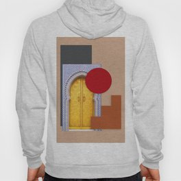 Minimalist Abstract Desert Traditional Moroccan Door Collage Style Hoody
