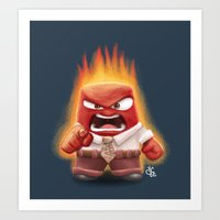 Anger from Inside Out Art Print