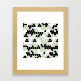 Honey Comb Light Green Geometric Pattern | Home Decor Framed Art Print