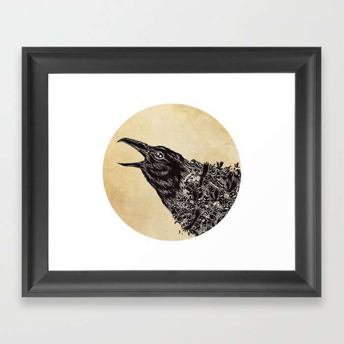 CROW-ded Framed Art Print
