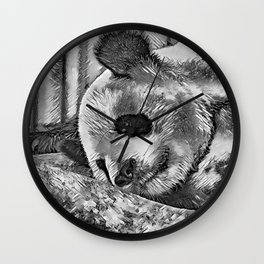 AnimalArtBW_Panda_20170810_by_JAMColorsSpecial Wall Clock