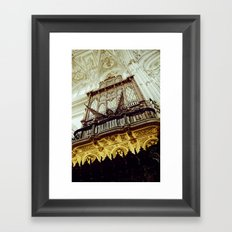 Mosque-Cathedral organ in Córdoba, Spain Framed Art Print