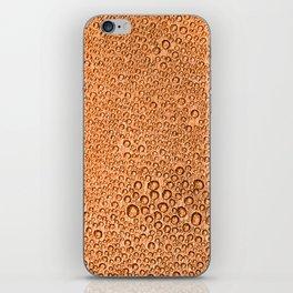 Water Condensation 05 Orange iPhone Skin