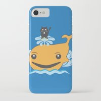 surfing iPhone & iPod Cases featuring Surfing by Hagu