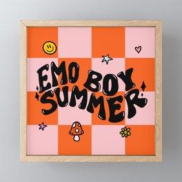 Emo Boy Summer Framed Mini Art Print